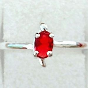 Jewelry - NEW RED STONE ~ 925 STAMPED STERLING SILVER RING